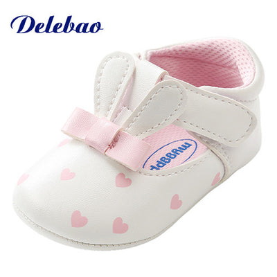 Pink Polka Dot Cotton Soft Sole Baby Shoes
