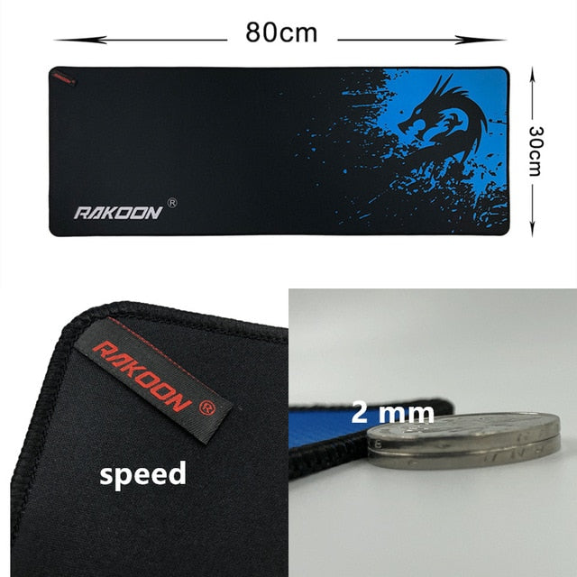 Blue Dragon Large Gaming Mouse Pad For Laptop Computer