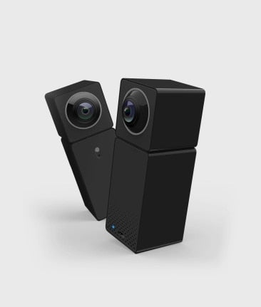 IP Camera with WIFI and Dual Cameras to Monitor Home Security with a 360 degree view