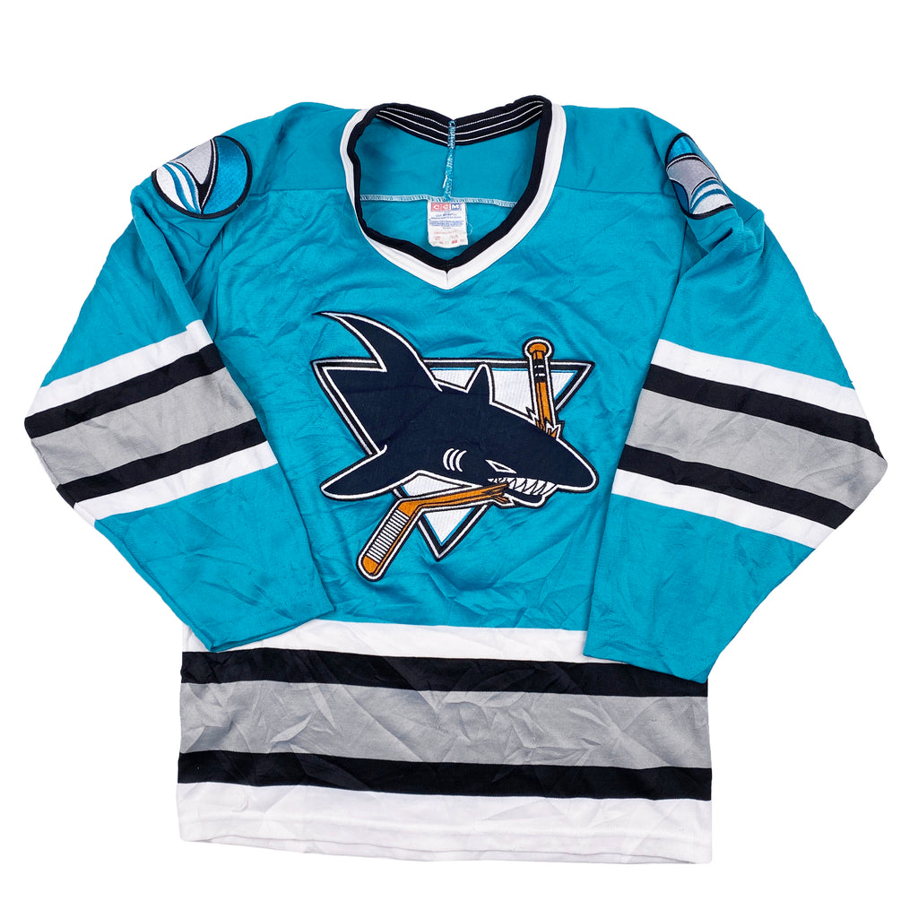 Vintage CCM San Jose Sharks Stitched Jersey - Men's Small