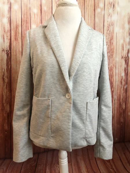 Oh Yes! upcycled sweatshirt blazer