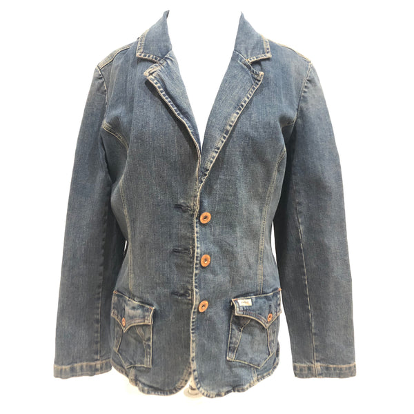 Time is On My Side upcycled vintage denim Levis blazer