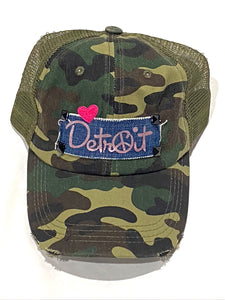 Came Peace Detroit distressed trucker hat