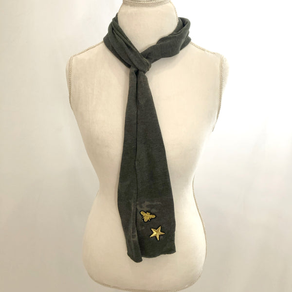 T-shirt soft long camo scarf