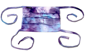 Purple/Blue Hand-dyed 100% cotton double layer masks