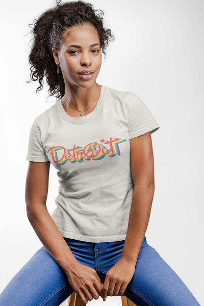 Rainbow Peace Detroit unisex t-shirts