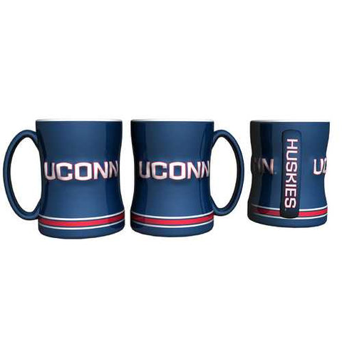 Connecticut Huskies Coffee Mug - 14oz Sculpted Relief Special Order