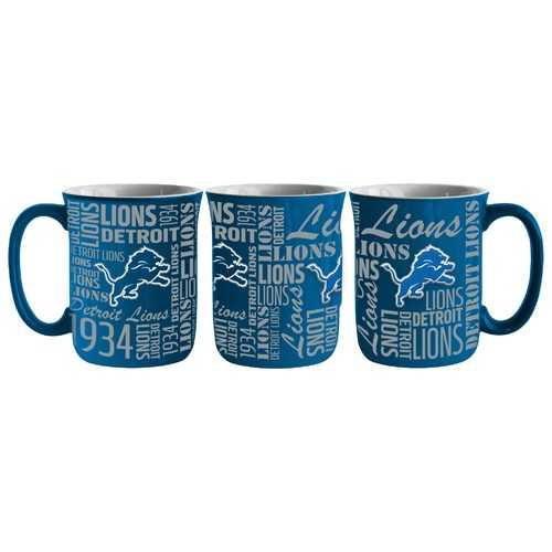 Detroit Lions Coffee Mug 17oz Spirit Style