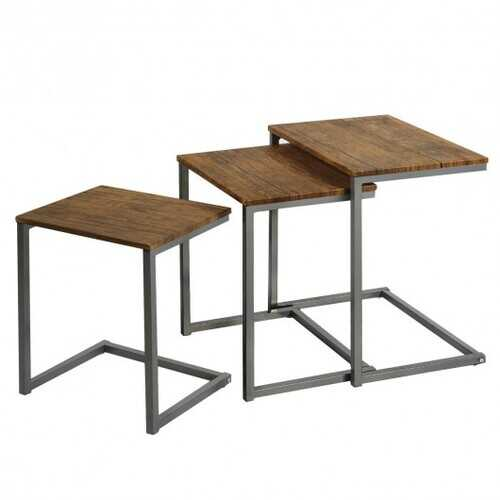 3 Pices Multifunctional Coffee End Table Set