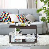 2-tier Rectangular Modern Console Table Coffee Table