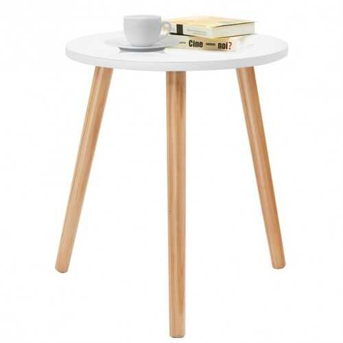 Small Modern Round Coffee Tea Side Table