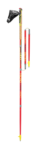 LEKI Micro Trail Pro - Folding Trekking Poles - Red