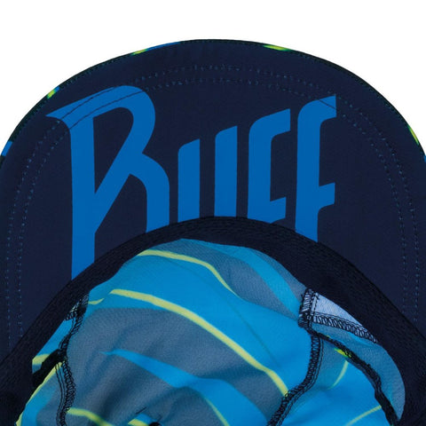 Buff Reflective Visor focus blue