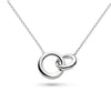Kit heath Sterling Silver Bevel Double Loop Necklace