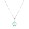 Rodgers and Rodgers Sterling Silver and Aqua Onyx Teardrop Necklace