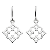 Silver Morrocan Diamond Earrings | jewellery