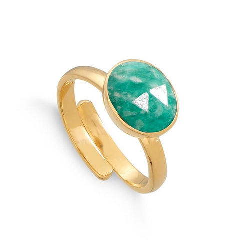 SVP Jewellery Amazonite Midi Atomic Gold Ring