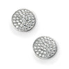 Silver Sparkling Pave Stud Earrings | Cubic Zirconia | Jewellery