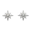 Silver Sparkling Star Stud Earrings | Cubic Zirconia | Jewellery | Jewelry