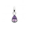 Silver and Amethyst Teardrop Pendant