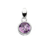 Silver and Amethyst Round Pendant | Necklace | Jewellery