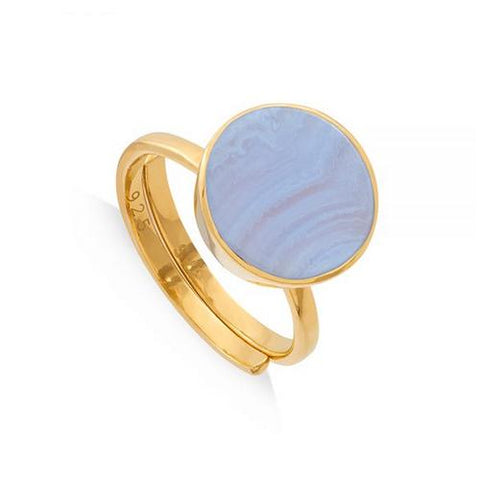 SVP Jewellery Blue Lace Agate Moondance Ring