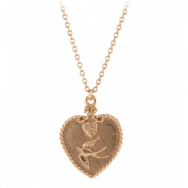 Alex Monroe Sale - Alex Monroe Swallow Heart Necklace - Designer Necklaces - Silverado