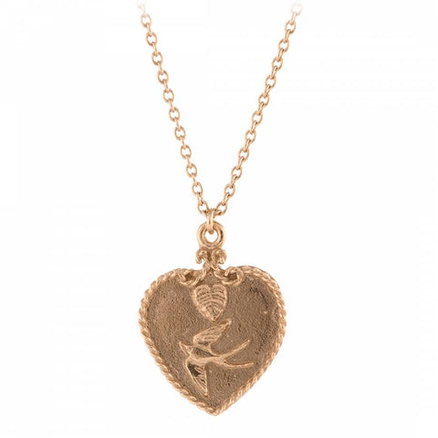 Alex Monroe Swallow Heart Necklace