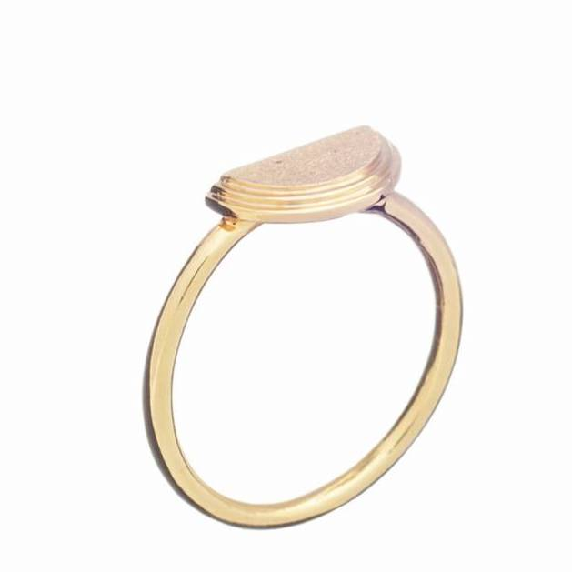 Rachel Jackson Brushed Half Moon Ring