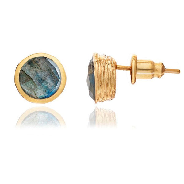 Azuni - Azuni Labradorite Stud Earrings - Designer Earrings - Silverado