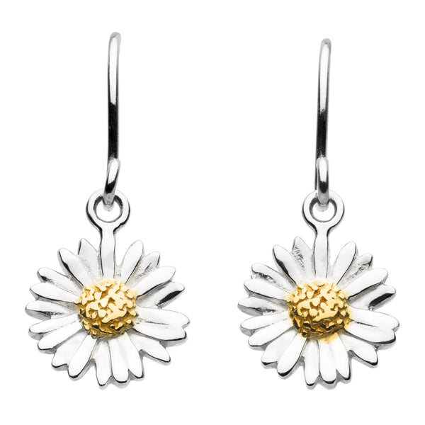 Sterling Silver - Daisy Drop Earrings - Earrings - Silverado