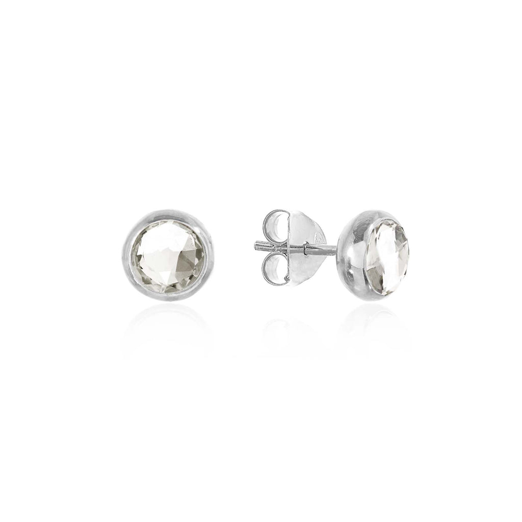 Rodgers and Rodgers Silver Birthstone Stud Earrings - April