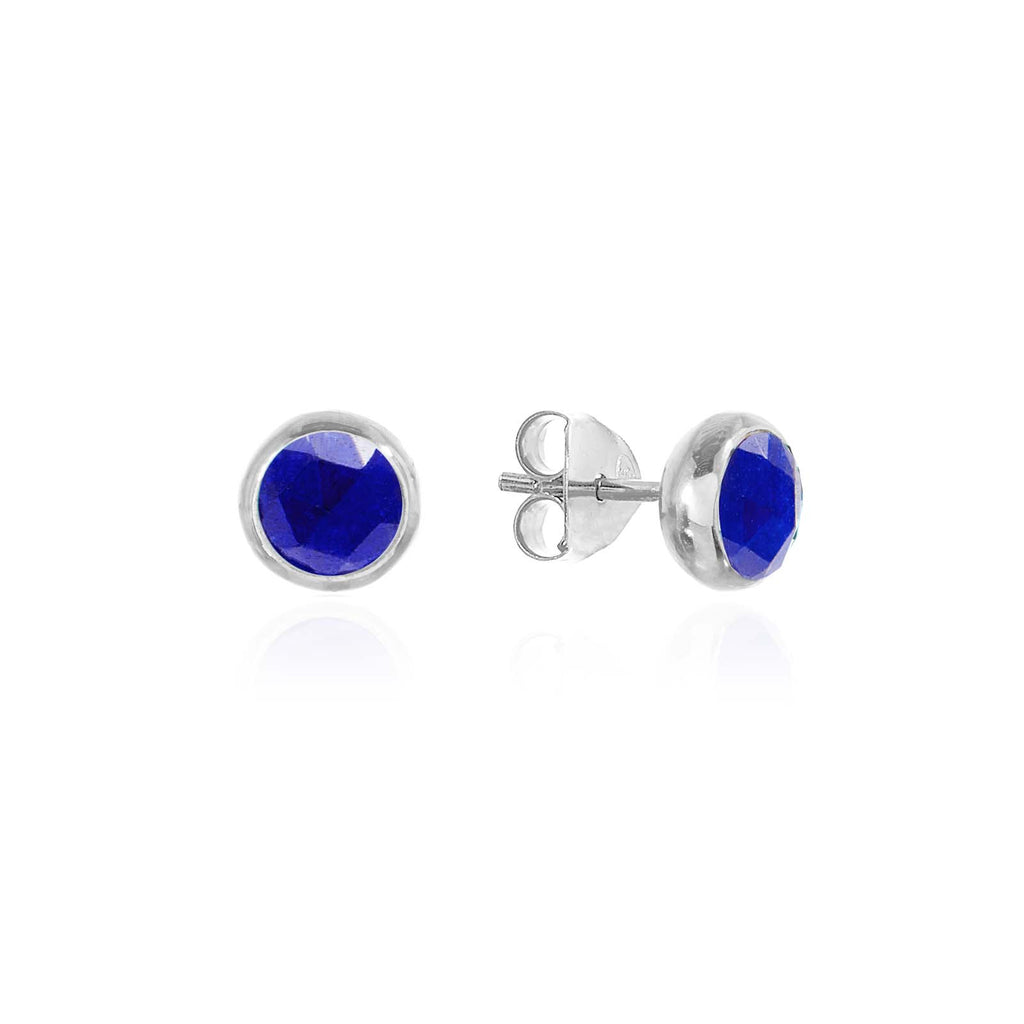 Rodgers and Rodgers Silver Birthstone Stud Earrings - September