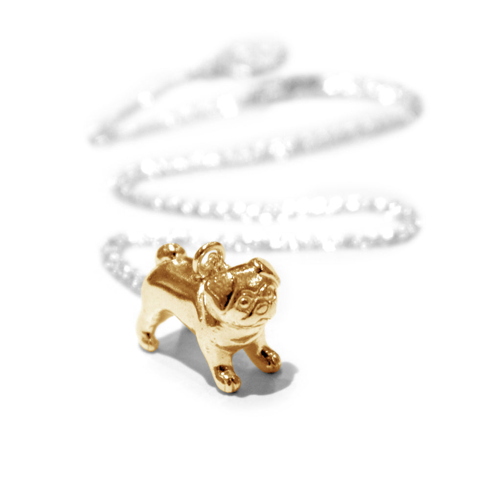 Alexis Dove - Alexis Dove Gold Pug Necklace - Designer Necklaces - Silverado