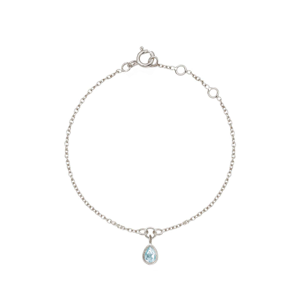 Rodgers and Rodgers Blue Topaz Teardrop Charm Bracelet
