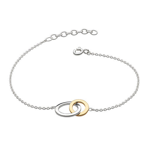 Gold and Silver Two Loop Bracelet