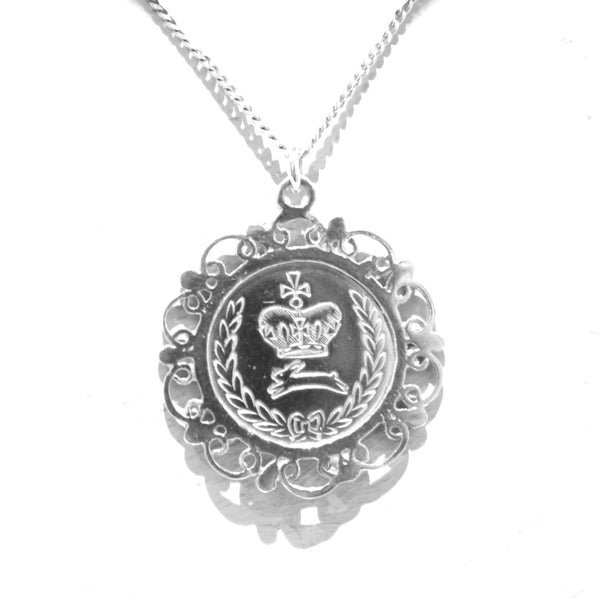 Becca - Becca Silver Filigree Coin Necklace - Designer Necklaces - Silverado