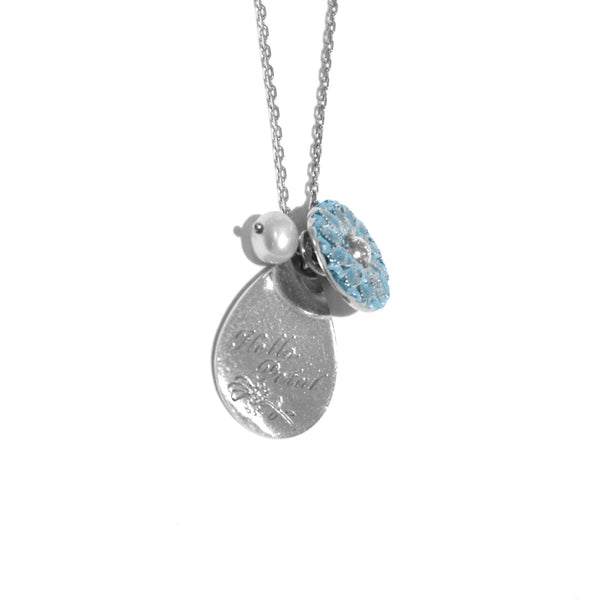 Becca - Becca 'Hello Petal' Charm Necklace - Designer Necklaces - Silverado