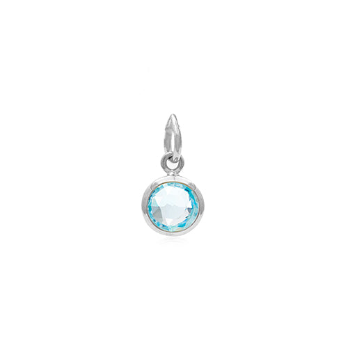 Rodgers and Rodgers Silver Birthstone Pendant - March