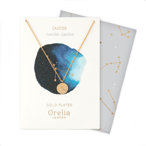 Orelia Constellation Disc Necklace - Cancer