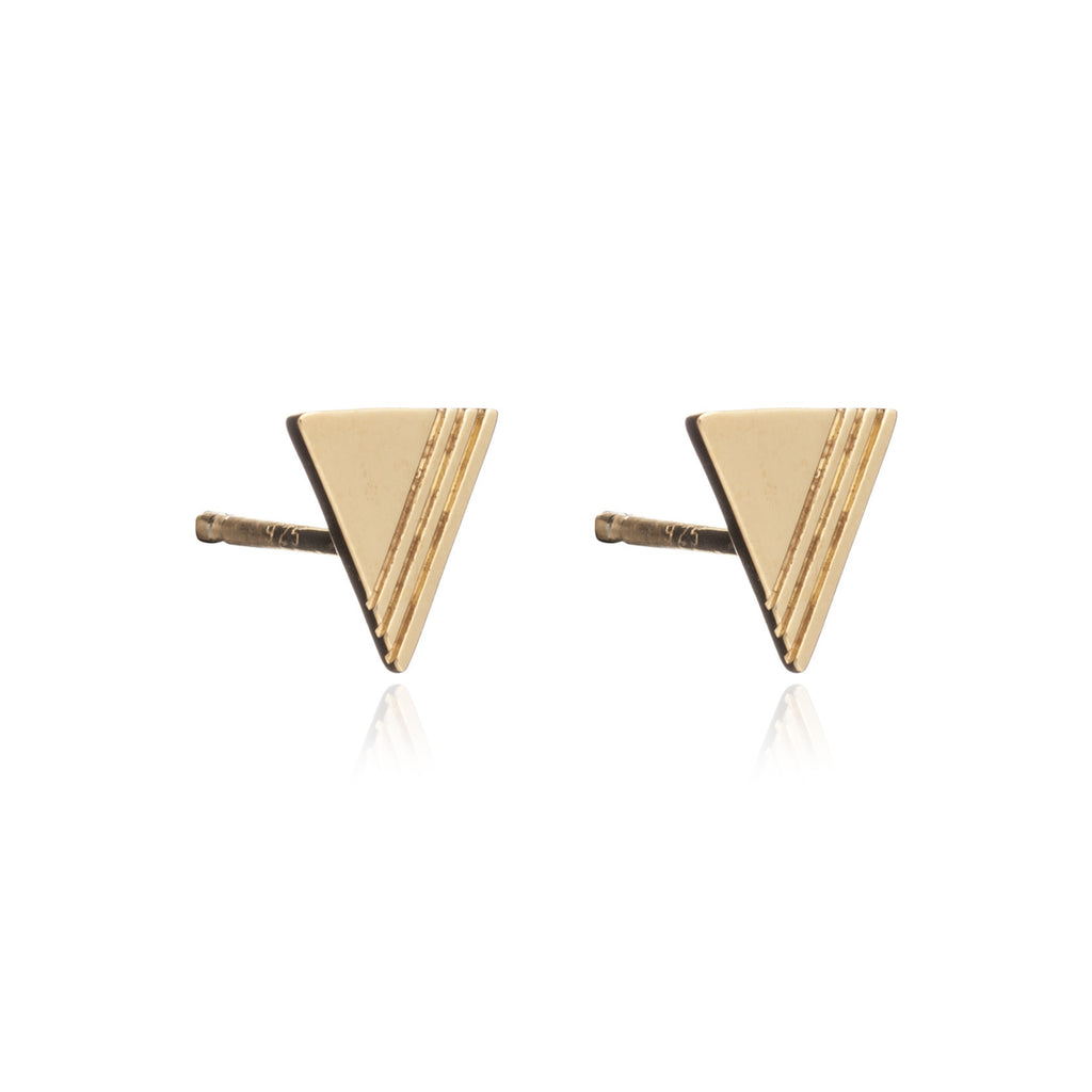 Rachel Jackson - Rachel Jackson Triangle Studs - Designer Earrings - Silverado