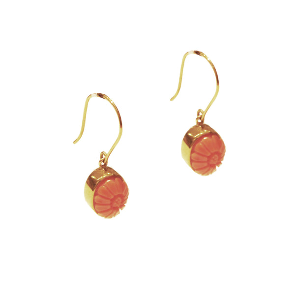 Carre - Carre Coral Drop Earrings - Designer Earrings - Silverado