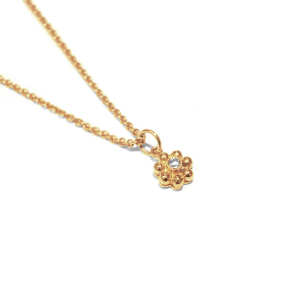 Carre - Carre Little Flower Necklace - Designer Necklaces - Silverado