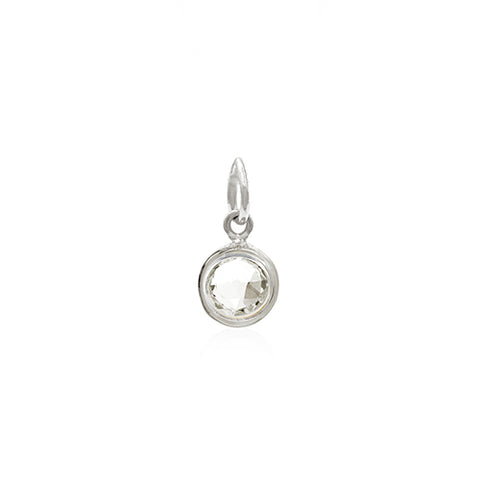 Rodgers and Rodgers Silver Birthstone Pendant - April