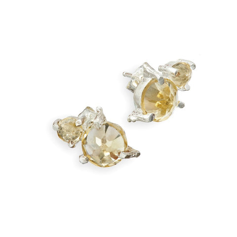 Chupi 'Twinkle In The Wild' Citrine Stud Earrings