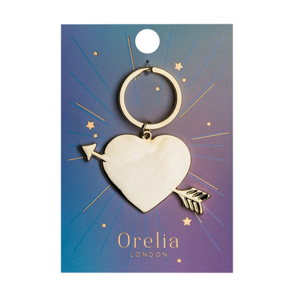 Orelia - Orelia Heart and Arrow Key Ring - Silverado - Accessories