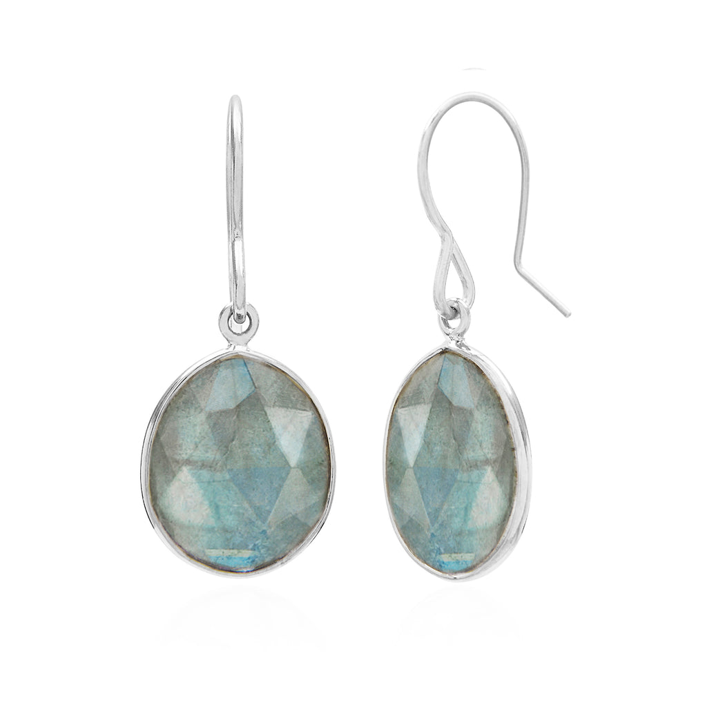Rodgers & Rodgers - Rodgers and Rodgers Silver and Labradorite Riviera Drops - Designer Earrings - Silverado