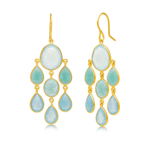 Rodgers and Rodgers Cascading Gemstone Earrings