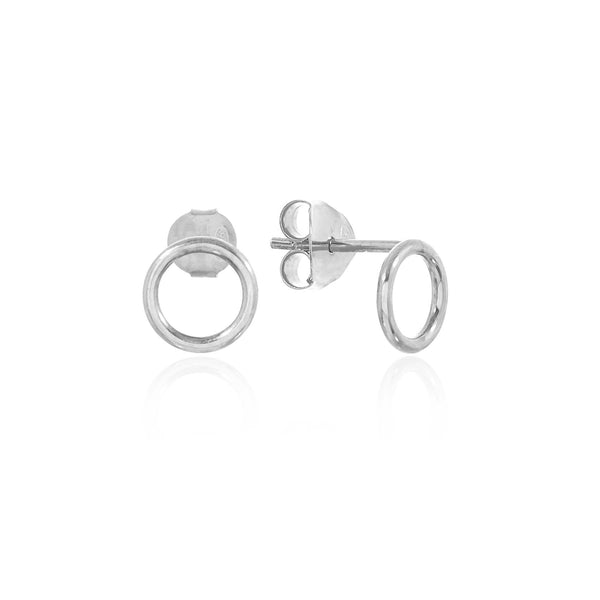 Rodgres and Rodgers Silver Halo Stud Earrings