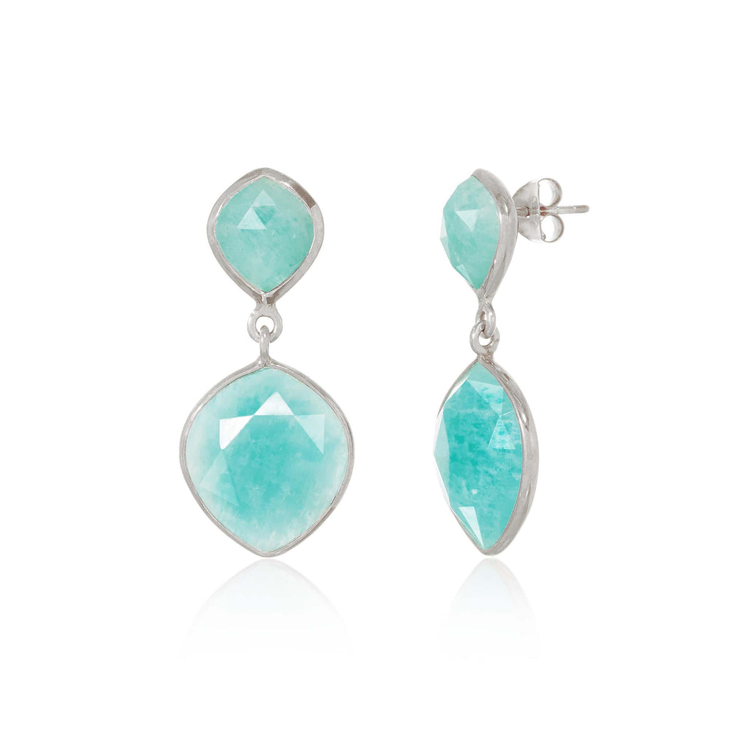Rodgers and Rodgers Cielo Amazonite Cocktail Earrings